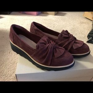 Burgundy Loafers by Clark's